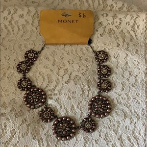 Monet Necklace Missing Stones Great for Jewelry